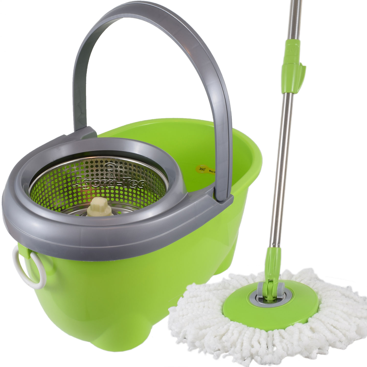 wischmop spin mop set bodenwischer 360 schleuder mop bodenreiniger wischmopp ebay. Black Bedroom Furniture Sets. Home Design Ideas