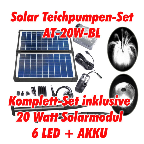 10 w solar teichpumpe solarpumpe teich pumpe led akku ebay. Black Bedroom Furniture Sets. Home Design Ideas
